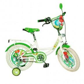 Велосипед Фиксики 14 дюймов детский двухколесный белые колеса