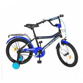 Двухколесный велосипед Profi Top Grade 18 дюймов L18104 для мальчика черный матовый
