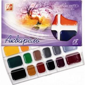 Краски акварельные 18 цветов