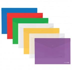 Папка-конверт Пластик А5 с кнопкой Е31316 Economix