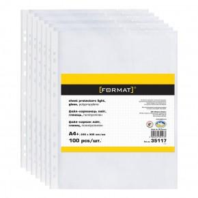 Файлы А4, глянцевые, 25 мкр, F35117 FORMAT