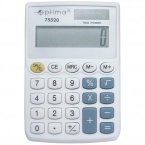 Калькулятор карманный Optima 8 разрядный электронный 96*60*10мм О75520
