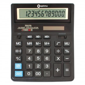 Калькулятор Optima 12 разрядный электронный 203*158*30,5мм О75575
