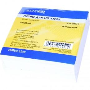 Бумага для заметок Economix 85*85, 400 листов, не проклеенная, Е20940