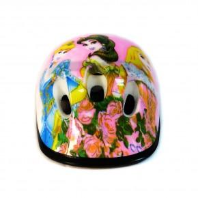 Детский защитный шлем Девочкам С1 для велосипедов, роликов, скейтов, самокатов принцессы