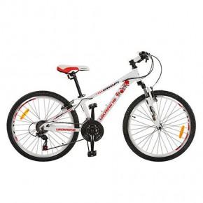 Велосипед Профи Кид Стиль Украина 24 дюйма Profi Kid G24A315 UKR-2 алюминиевая рама бело-красный