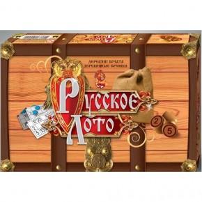 Настольная игра Русское лото с деревянными бочонками Danko Toys