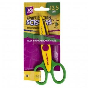 Ножницы детские, 13,5 см, с фурнитурными лезвиями для аппликаций, волна  CF49453