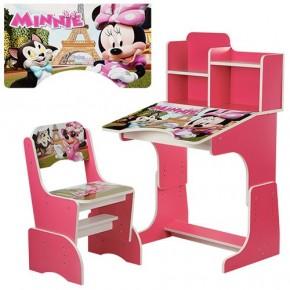 Парта детская со стульчиком Bambi W 2071 для дома Бамби регулируемая минимаус