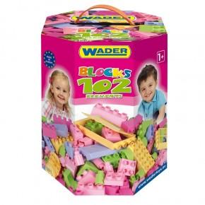 Конструктор 102 элемента в коробке для девочек Wader, 41291, Вадер для детей