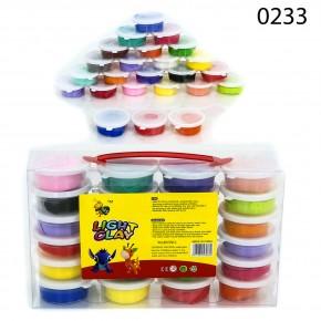 Тесто для лепки Light Clay 0233 24 цвета, пластилин