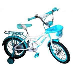 Детский велосипед Azimut Kiddy 18 дюймов для девочки от 5 лет до 8 лет