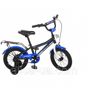 Двухколесный велосипед PROFI Top Grade  L14101 для мальчика 3-х лет детский 14 дюймов черный