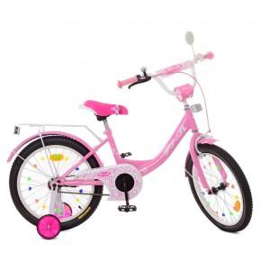 Детский велосипед Профи Принцесса 18 дюймов розовый для девочек