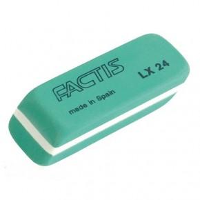 Ластик, резинка стирательная LX24, скошенный Factis
