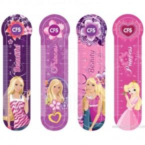 Закладки пластиковые (4шт/наб) для девочки