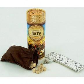 Настольная игра Русское лото туба с деревянными бочонками Danko Toys казацкое лото