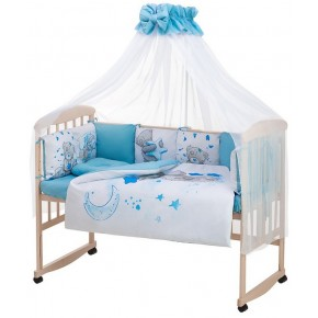 Детская постель Babyroom Bortiki Print-08  blue teddy