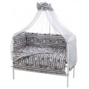 Детская постель Qvatro Gold RG-08 рисунок серая полоска (unicorn)