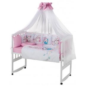 Детская постель Babyroom Bortiki Print-08  pink owl