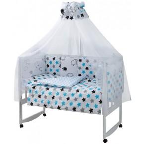 Детская постель Babyroom Classic Bortiki-01 белый (барашки) 8 элементов