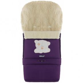 Зимний конверт Babyroom 20 фиолетовый с мишкой