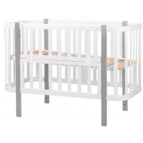 Кровать Babyroom Луна белый - серый