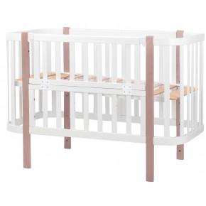 Кровать Babyroom Луна белый - капучино