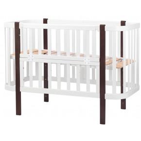 Кровать Babyroom Луна белый - венге