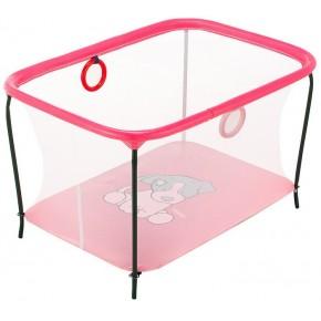 Манеж Qvatro LUX-02 мелкая сетка  розовый (dog)