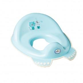 Накладка на унитаз Tega Dog & Cat PK-002 нескользящая 101 light blue