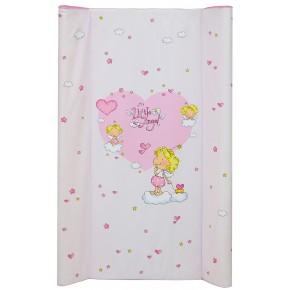 Пеленальный матрас Maltex мягкий 50х80 см  litlle angel розовый