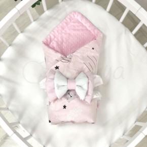 Плед Маленькая Соня Minky Коты в облаках розовые
