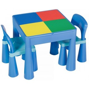 Стол и 2 стульчика Tega Mamut 899B light blue-blue