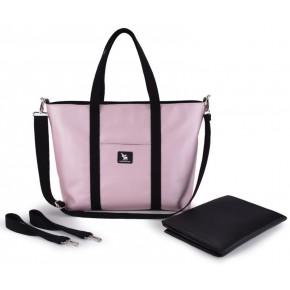 Сумка для коляски Cottonmoose Shopper 750/146 pearl pink leather (розовая пудра эко-кожа)