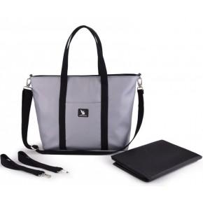 Сумка для коляски Cottonmoose Shopper 750/147 pearl gray leather (серый эко-кожа)