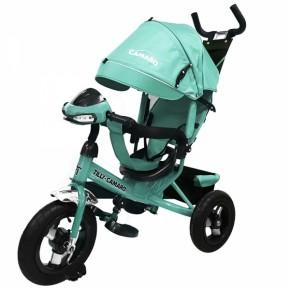 Велосипед детский трехколесный с надувными колесами фарой Tilly Camaro T-362