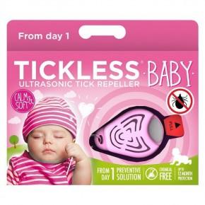 Ультразвуковой отпугиватель от клещей Tickless Baby Kid Pink