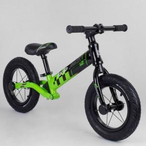 Беговел Corso Skip Jack 95112 черно-зеленый 12 дюймов