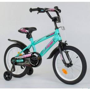 Велосипед детский Corso Aerodynamic ЕХ - 16 N 5171 16 дюймов бирюзовый
