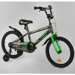 Велосипед детский Corso Aerodynamic EX-18 N 3305 18 дюймов зеленый