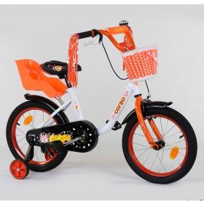 Велосипед детский Corso Flower 16 дюймов с корзинкой