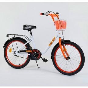 Велосипед детский Corso Flower 20 дюймов 2085 с корзинкой