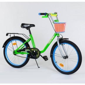 Велосипед детский Corso Flower 20 дюймов с корзинкой