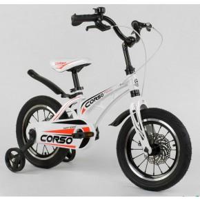 Велосипед детский Сorso Magnesium MG-14 S 499 14 дюймов усиленные спицы