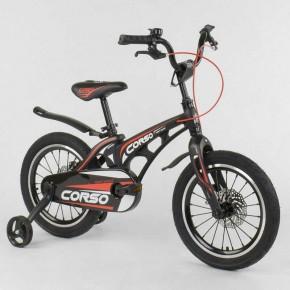 Велосипед детский Corso Magnesium 16 дюймов усиленные спицы