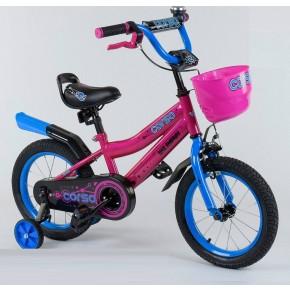 Велосипед детский Corso Max Energy 14 дюймов R - 14460 розовый