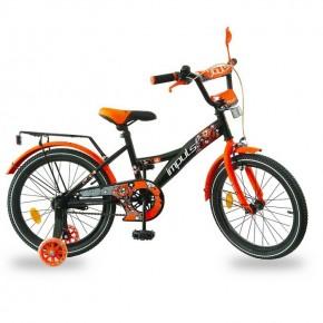 Велосипед детский Impuls Beaver 18 дюймов черно-оранжевый